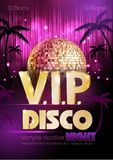 Disco poster. Disco background. Stock Image