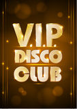 Disco poster. Disco background. Royalty Free Stock Photography