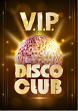 Disco poster. Disco background. Royalty Free Stock Images