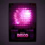 Disco poster. geometric triangle background Stock Image