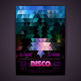 Disco poster. geometric triangle background Royalty Free Stock Images