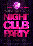 Disco poster. Night club dance Royalty Free Stock Photo