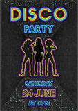 Disco poster in a retro 80s style. Vector illustration - eps 10 Stock Photos