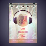 Disco poster sound party Royalty Free Stock Image
