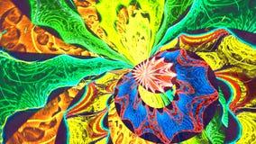 Disco psychedelische scène Naadloze lijn 4K, UHD, Ultrahd-resolutie stock videobeelden