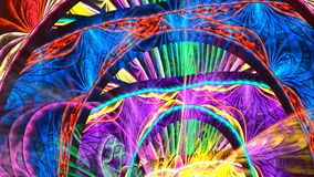 Disco psychedelische scène Naadloze lijn 4K, UHD, Ultrahd-resolutie stock video