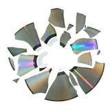 Disco quebrado Fotografía de archivo