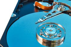 Disco rígido colorido desmontado do computador fotografia de stock royalty free