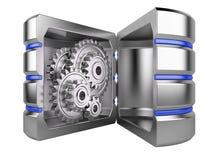 Disco rígido com engrenagens para dentro Imagens de Stock