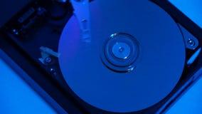 Disco rígido de trabalho interno video estoque