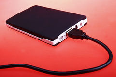 Disco rígido externo portátil Imagens de Stock