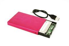 Disco rígido móvel externo portátil Imagem de Stock