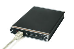 Disco rígido portátil externo Foto de Stock Royalty Free