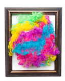 Disco Rainbow Afro Wig Royalty Free Stock Photo
