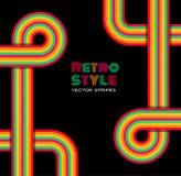 Disco retro background. Vector col stripes Stock Photo