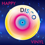 Disco retro Vinil Foto de archivo