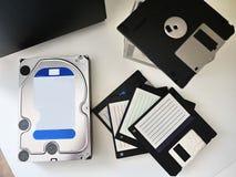 Disco rigido con computer personale per la memorizzazione media e degli altri dati Dettagli e fotografia stock libera da diritti