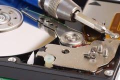 Disco rigido del calcolatore magnetico di riparazione e di sistema diagnostico Fotografie Stock