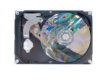 Disco rigido del computer isolato su bianco Immagini Stock Libere da Diritti