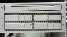 Disco rigido del server del computer video d archivio