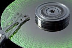 Disco rigido e dati simbolici Immagini Stock