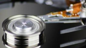 Disco rigido in funzione stock footage