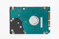 Disco rigido interno del computer da un computer portatile su blackground bianco Fotografia Stock Libera da Diritti