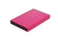 Disco rigido mobile esterno portatile Fotografie Stock