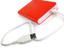 Disco rigido mobile esterno portatile Immagini Stock