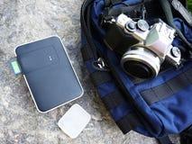 Disco rigido portatile, stoccaggio domestico della nuvola per i vostri dati particolari fotografie stock