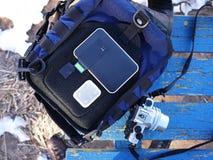 Disco rigido portatile, stoccaggio domestico della nuvola per i vostri dati particolari immagine stock libera da diritti
