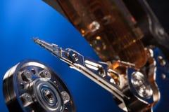 Disco rigido smontato dal computer, hdd con effetto dello specchio Immagine Stock Libera da Diritti