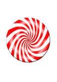 Disco rosso e bianco della caramella Fotografia Stock Libera da Diritti