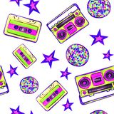 Disco 80s on a white background royalty free illustration