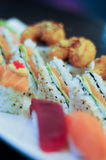 Disco sabroso del sushi Imagen de archivo