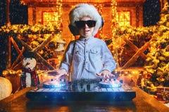 Disco at santa claus royalty free stock photography