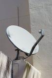 Disco satellite bianco Fotografia Stock