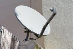 Disco satellite bianco Immagini Stock