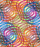 Disco seamless pattern. Abstract multicolor circles seamless pattern. Vector background Royalty Free Stock Photo