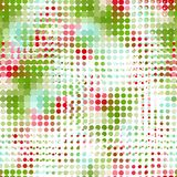 Disco seamless pattern of halftone dots in retro Stock Image