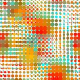 Disco seamless pattern of halftone dots in retro Royalty Free Stock Image