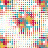 Disco seamless pattern of halftone dots in retro Stock Photography