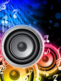 Disco Speaker with Music Notes Royalty Free Stock Photo