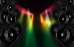 Disco Speakers Stock Photography