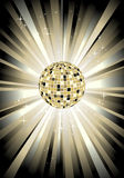 Disco sphere in gold color Stock Image
