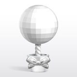 Disco sphere silver tree in the pot Royalty Free Stock Photography