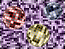 Disco spheres Stock Photo