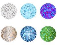 Disco spheres set Royalty Free Stock Images