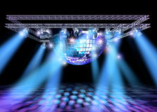 Disco stage lights construction Royalty Free Stock Image