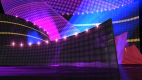 The disco stage set a Stock Image